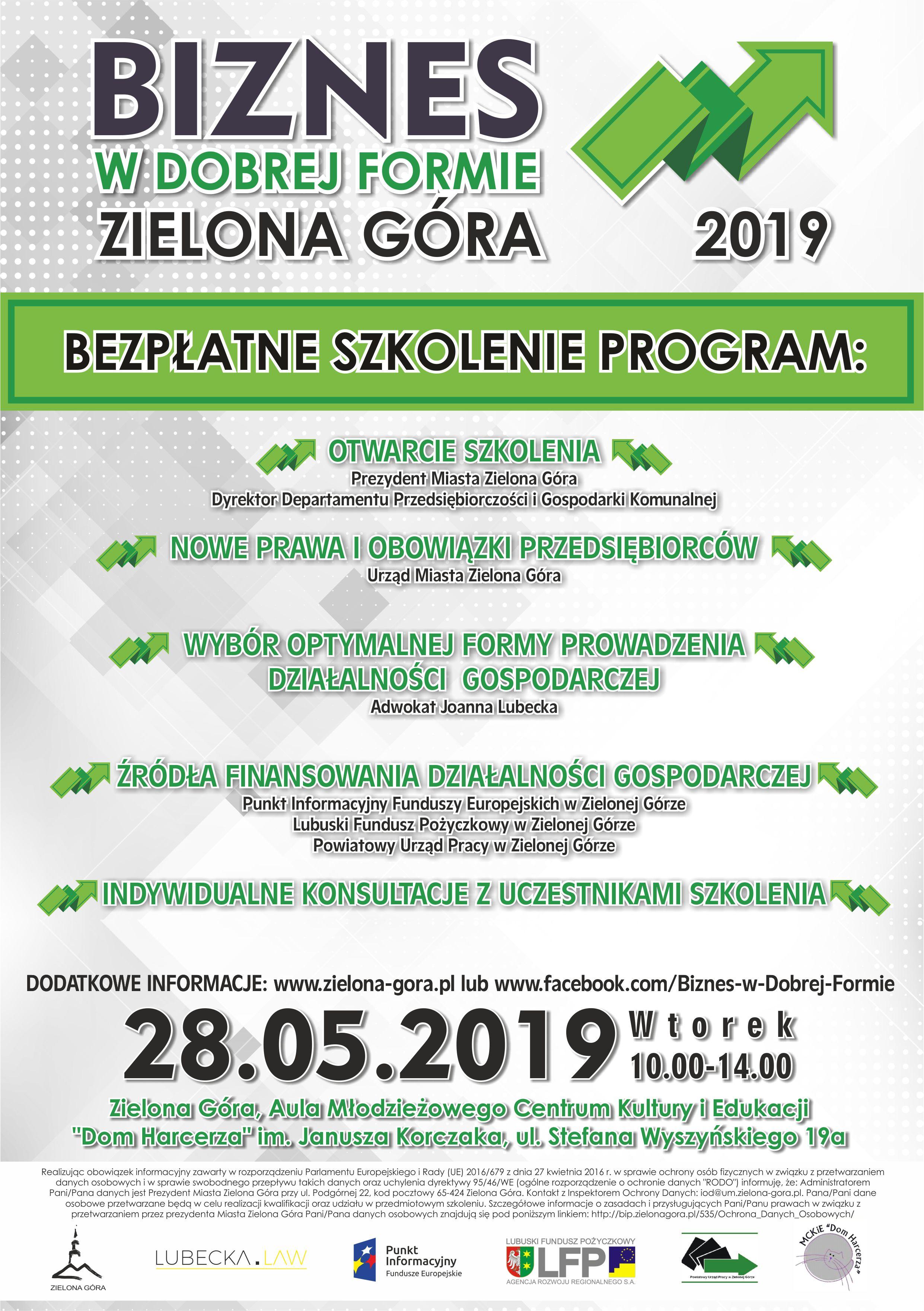 Tylko na zewnątrz UM Zielona Góra: Biznes w Dobrej Formie - szkolenie OL73